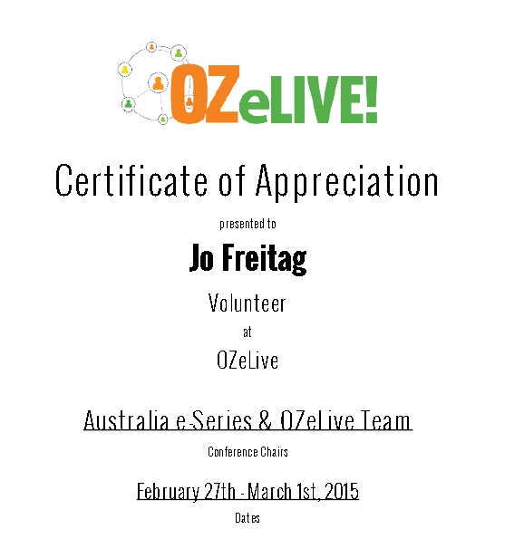 ozelivecertvolunteer